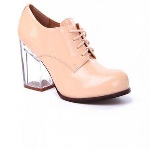 Jeffrey Campbell pink bravery lucite heels 8